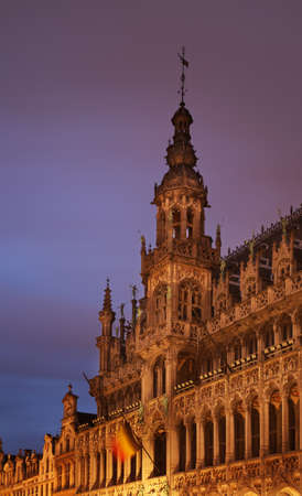 Maison du Roi  King s House  or Broodhuis  Bread house   on Grand Place in Brussels at twilight  Belgium  photo