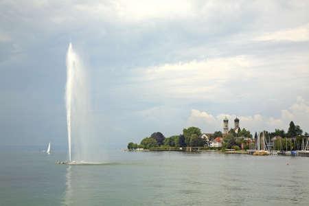 friedrichshafen: Fountain on Bodensee  Friedrichshafen  Germany Stock Photo