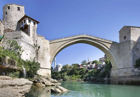 Old bridge in Mostar  Bosnia and Herzegovina Stock Photo - 27045914