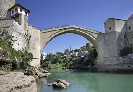Old bridge in Mostar  Bosnia and Herzegovina Stock Photo - 27045917