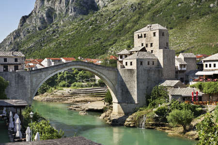 Old bridge in Mostar  Bosnia and Herzegovina Stock Photo - 27045960