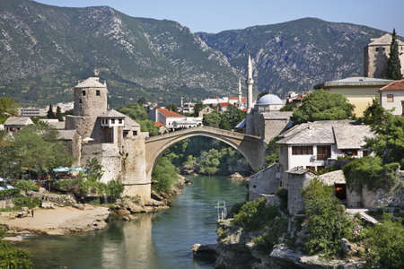 Old bridge in Mostar  Bosnia and Herzegovina photo