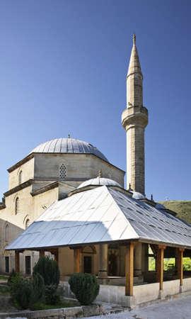 former yugoslavia: Koski Mehmed Pasha Mosque in Mostar  Bosnia and Herzegovina Stock Photo