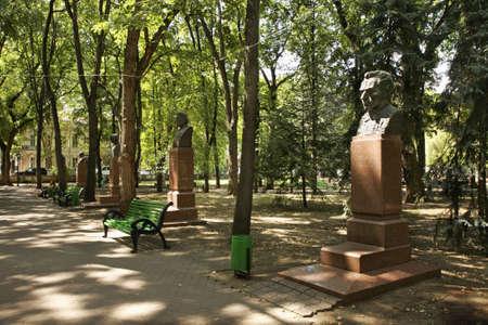 Kishinev  Chișinău    Alley of Classics in central Park  Stefan the Great   Moldova