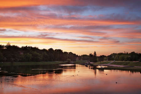 Nevezis River  in Panevezys  Lithuania
