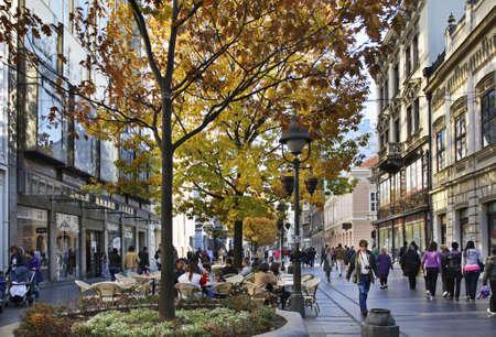 Knez Mihailova Straße in Belgrad Serbien