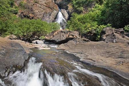 karnataka: Cascada en Karnataka India