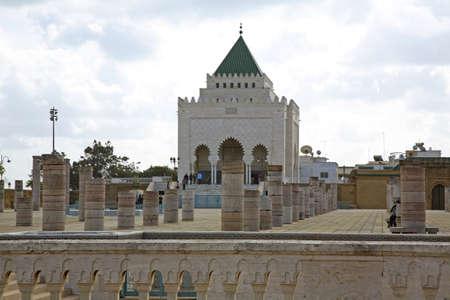 mohammed: Mausoleum of Mohammed V in Rabat  Morocco