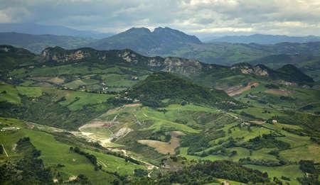 san marino: Landscape  San Marino  Stock Photo