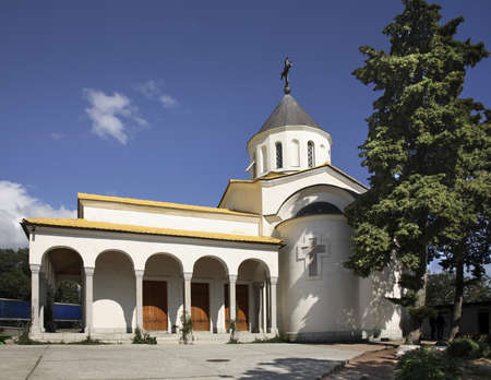 intercession: Church of the Intercession in Oreanda  Crimea  Ukraine