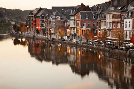 belgique: Embankment in Dinant  Belgique Stock Photo