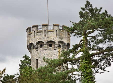 belgique: Tower in Dinant  Belgique Stock Photo