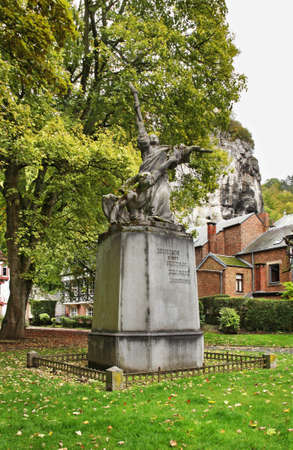 """belgique: Sculpture  """"Triomf van het Licht"""" in Dinant  Belgique  Stock Photo"""