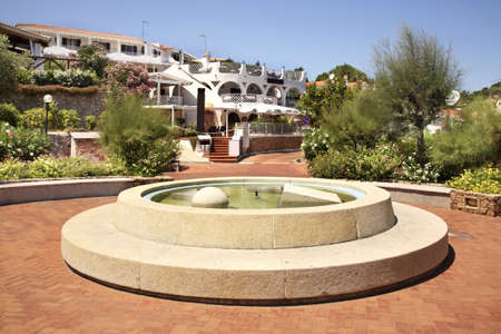 Fountain in Baja Sardinia  Sardegna  Italia