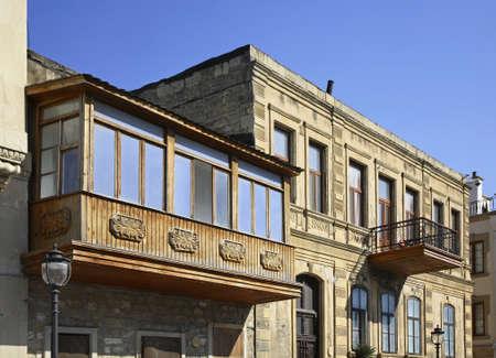 baku: Old town in Baku  Azerbaijan
