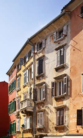 Old town in Rovinj  Istria  Croatia