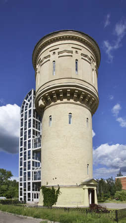 former: The former water tower in Polotsk  Belarus Stock Photo