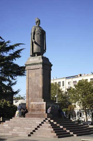 rustaveli: Rustaveli  monument on Rustaveli square in Tbilisi  Georgia