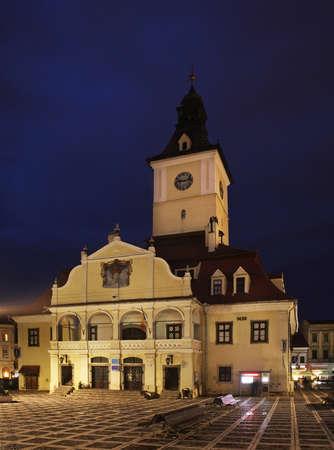 the council: Brasov Council Building on Piata Sfatului  Romania Editorial