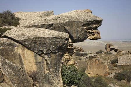 Gobustan National Park. Azerbaijan Stock Photo