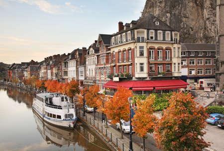 belgique: Embankment in Dinant. Belgique