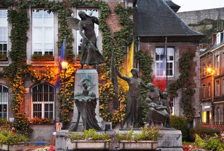 belgique: Monument  to victims of the Second World War in Dinant. Belgique Editorial