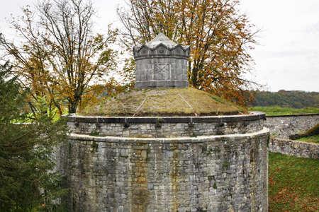 the citadel: Cittadella in Dinant. Belgique Archivio Fotografico