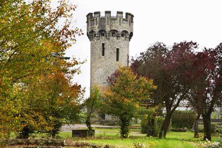 belgique: Tower in Dinant. Belgique Stock Photo