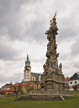 plaga: Peste columna en Kremnica. Eslovaquia Foto de archivo