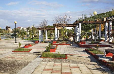 showplace: Park in Igoumenitsa. Greece Stock Photo