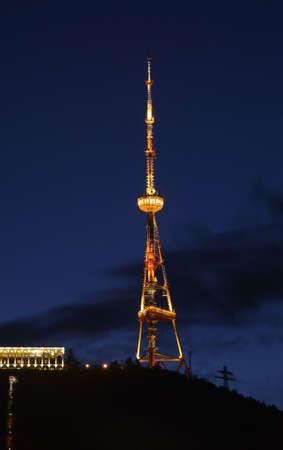 tbilisi: TV torre a Tbilisi. Georgia