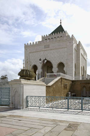 mohammed: Mausoleum of Mohammed V in Rabat. Morocco