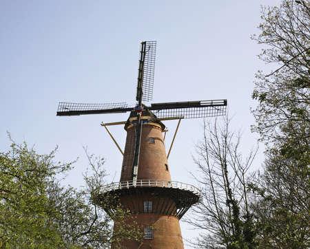 utrecht: Windmill in Utrecht. Netherlands