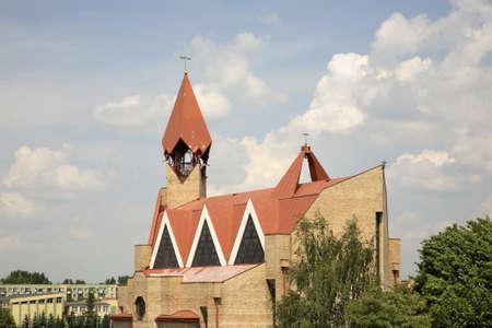 The Church of Jesus Christ in Biala Podlaska. Poland Banco de Imagens