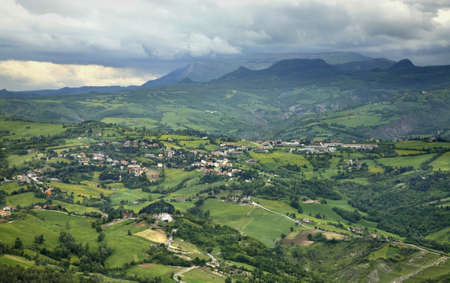 san marino: Landscape. San Marino Stock Photo