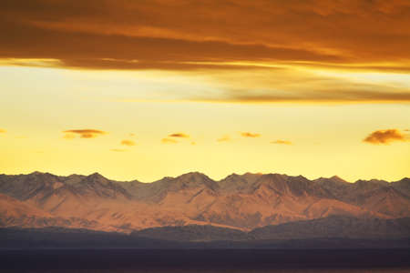 kyrgyzstan: Lake Issyk-Kul. Kyrgyzstan Stock Photo