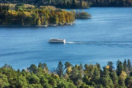 paysage: Lake Pyhajarvi in Tampere. Finland