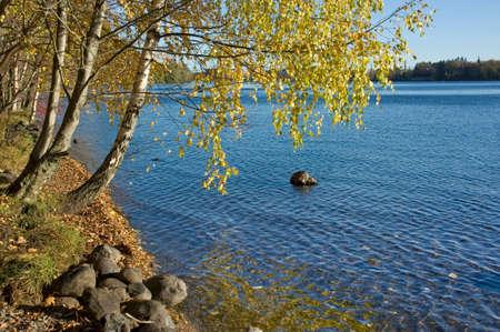 Lake Pyhajarvi in Tampere. Finland photo