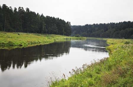 paysage: Tvertsa river in Vasilevo. Russia