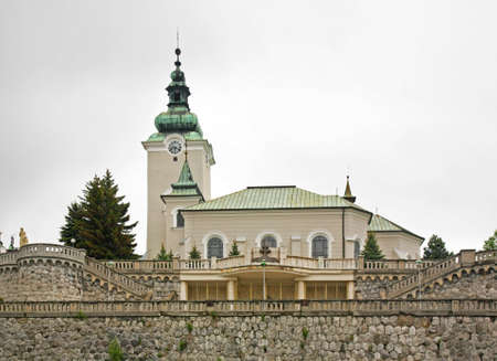ruzomberok: Saint Andrea Church in Ruzomberok. Slovakia