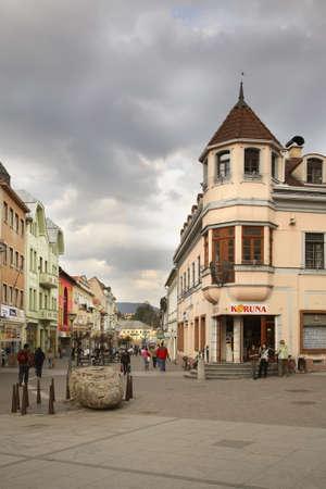 ruzomberok: Calle en Ruzomberok. Eslovaquia Editorial