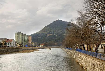 ruzomberok: Vah River in Ruzomberok. Slovakia Stock Photo