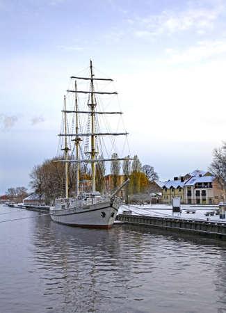 sailfish: Sailfish on the Dan? River in Klaipeda. Lithuania