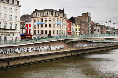 Remblai de la Sambre à Charleroi. Belgique