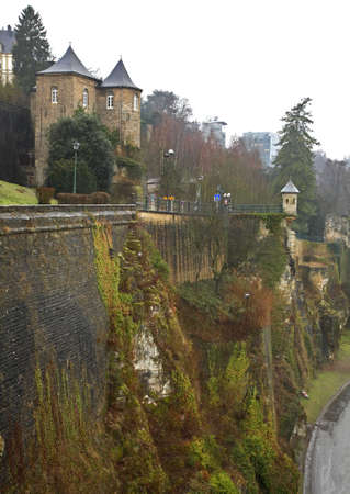 fortification: Fortification in Luxembourg city Editorial