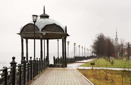 volga: Volga Boulevard in Kineshma. Ivanovo region. Russia