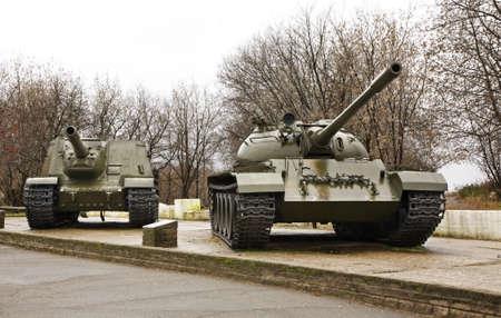 enginery: Tanks in Kineshma. Ivanovo region. Russia