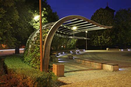 nad': Park in Kostrzyn nad Odra. Poland