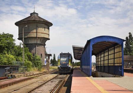 nad': Railway station in Kostrzyn nad Odra. Poland