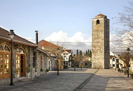 ottoman: Ottoman clock tower in Podgorica. Montenegro